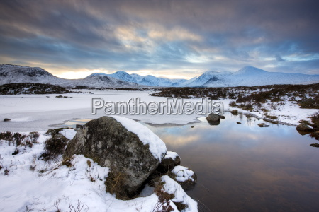 winter view across lochain na hachlaise