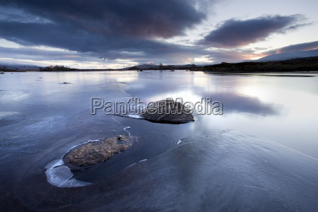winter view of loch ba at