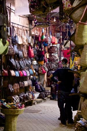 shops inside the medina marrakech morocco