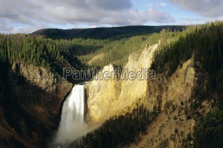 lower falls grand canyon yellowstone national
