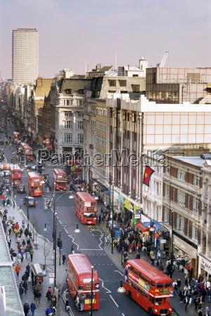 birds eye view of oxford street