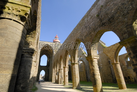 saint mathieus abbey near brest brittany