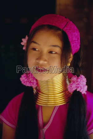 portrait of a long necked padaung