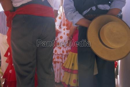 details of dress romeria del rocio