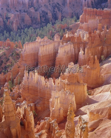 rock hoodoos from sunset point bryce