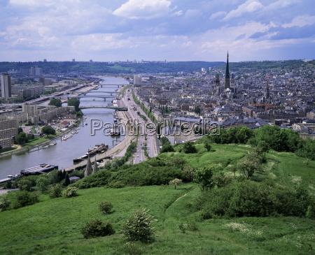 river seine and rouen seine maritime
