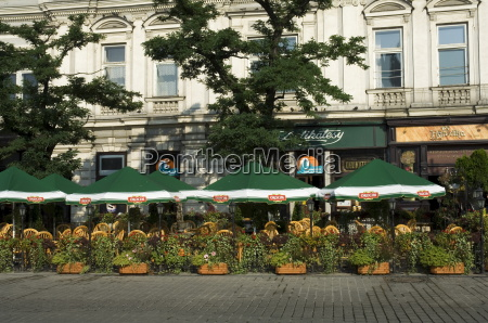 cafe in the main market square