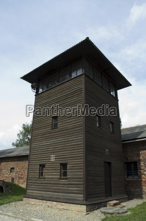 guard post auschwitz concentration camp near