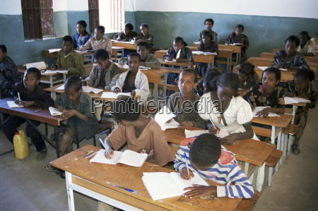 classroom full of children studying teferi