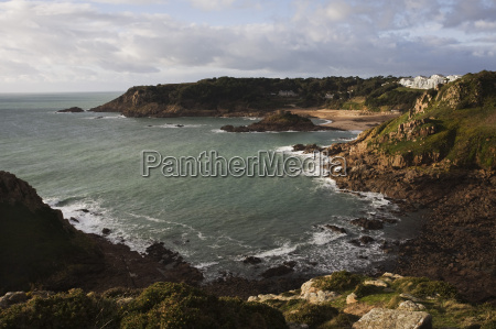 portelet bay from noirmont point jersey