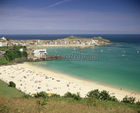 porthminster beach and harbour st ives
