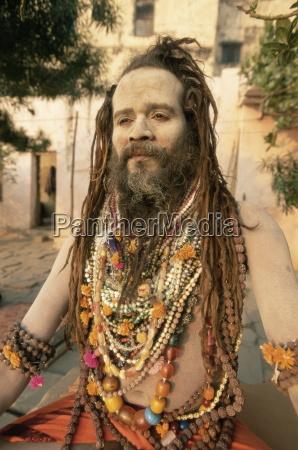 portrait of a hindu holy man