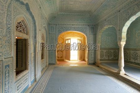 ornate passageway to open door samode