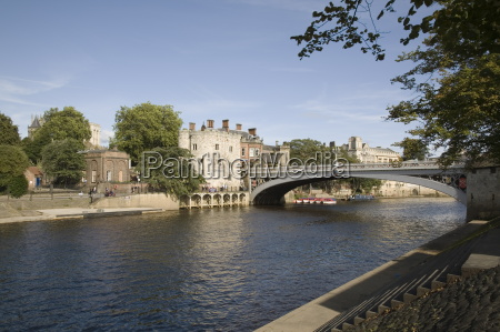river ouse with lendal bridge and