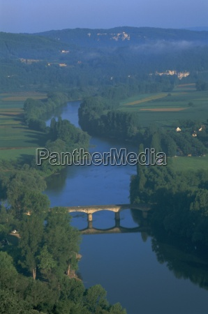 river dordogne from domme dordogne aquitaine