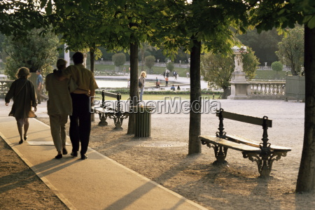 jardin du luxembourg paris france europe