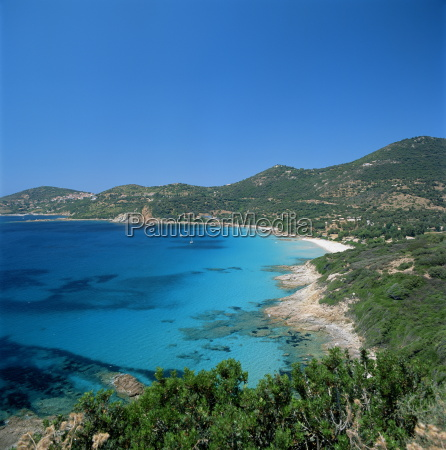 cargese west coast corsica france mediterranean