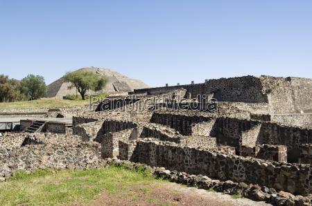 ruins and pyramid of the moon