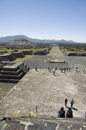 view from pyramid of the moon