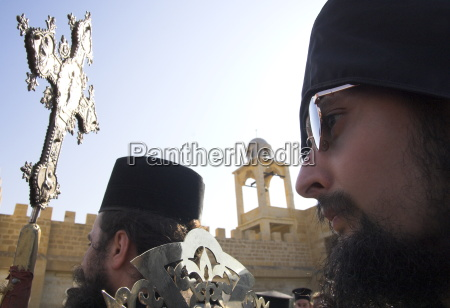 close up of two orthodox priests