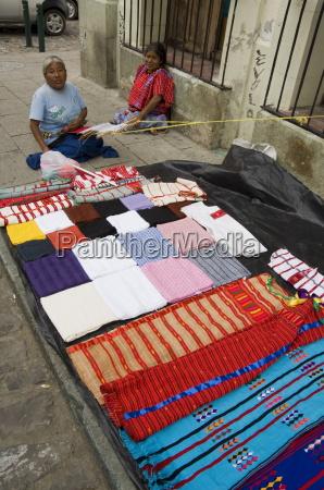 weaving on street oaxaca city oaxaca