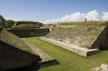 the ball court at the ancient
