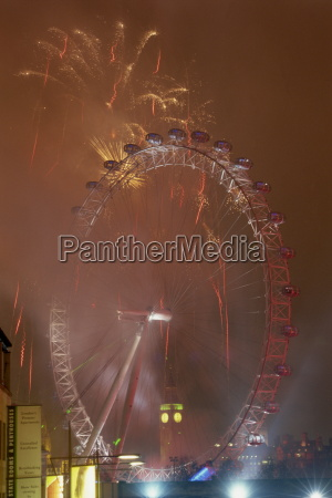 fireworks and the london eye london