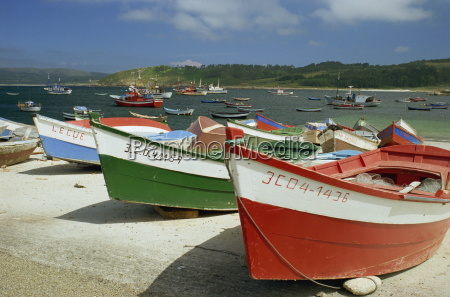 fishing boats on the beach and
