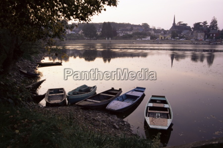 evening on the river mayenne at