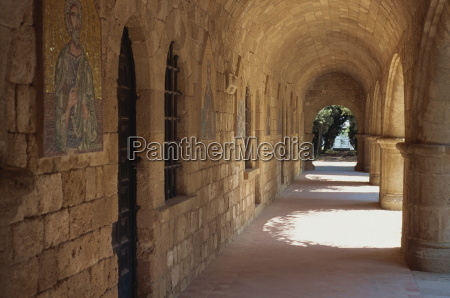 cloisters in the christian monastery of