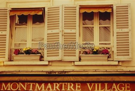 window boxes and shutters montmartre paris