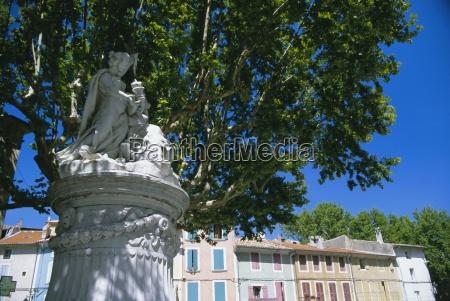 roman statue old town orange vaucluse