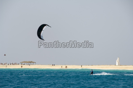 kite surfing at santa maria on