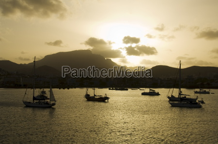 harbour of mindelo sao vicente cape