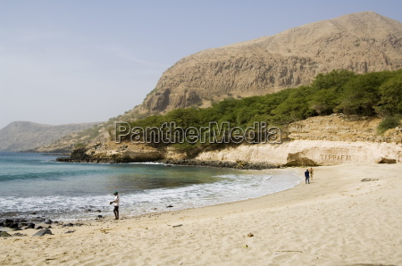 beach tarrafal santiago cape verde islands