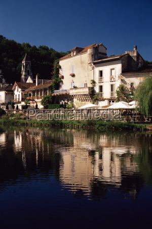 brantome river dronne dordogne aquitaine france