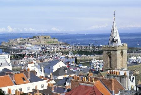 view to castle cornet st peterport