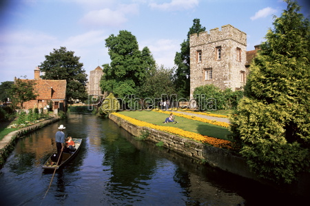 punting on the river stour canterbury