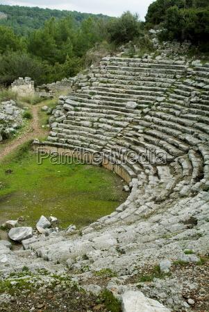 greek ruins phaselis anatolia turkey asia