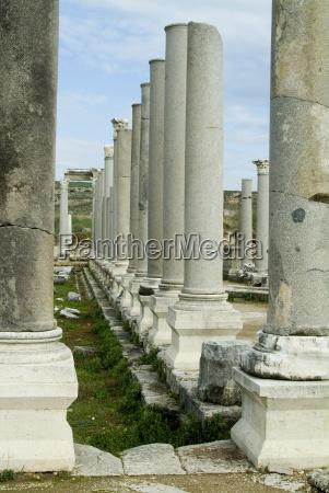 roman ruins perge anatolia turkey asia