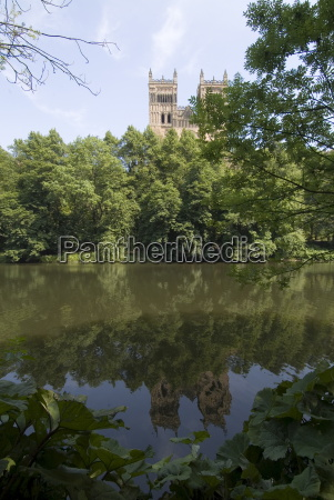 cathedral reflected in river wear unesco