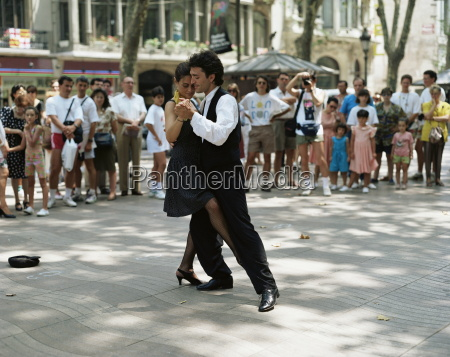 dancing in the street barcelona catalonia