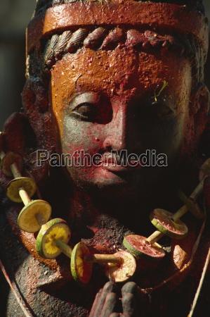 detail ofdecorated garuda image patan kathmandu