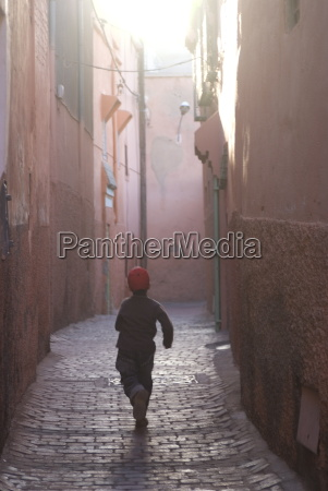 back street of marrakech morocco north