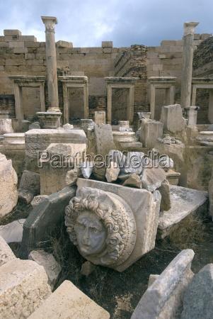 severan forum with gorgon head roman