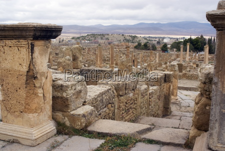 view over the roman site of