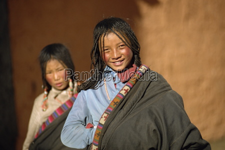 portrait of young girl tibet china