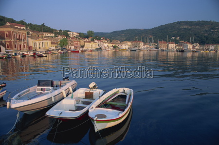 small boats in the harbour at
