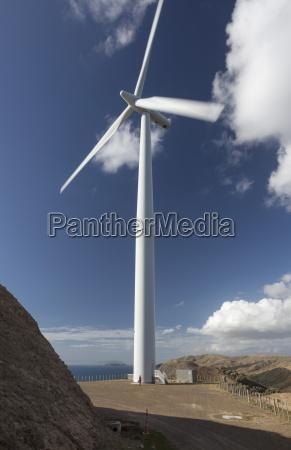 eine der turbinen mit einer person