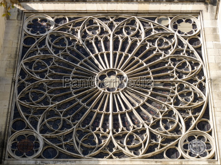south transept rose window exterior troyes